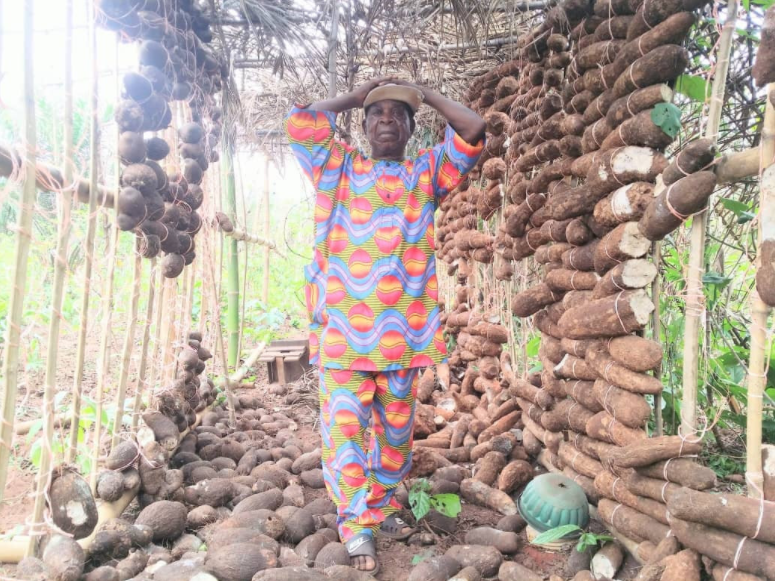 82-year-old farmer, Hitler Nwabudein from Akumazi Umuocha, Ika North East Local Government Area of Delta State